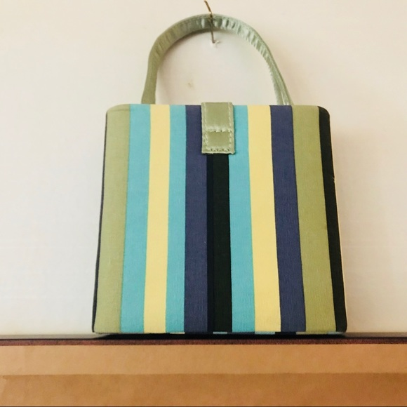 Hello Kitty Handbags - Turquoise Black Green Striped Small Bags are In